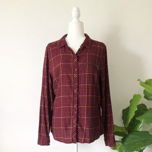 Maurices | plaid button up shirt large